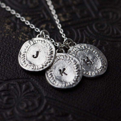 Hand Stamped Medallion Necklace - Handmade Jewelry by Burnish