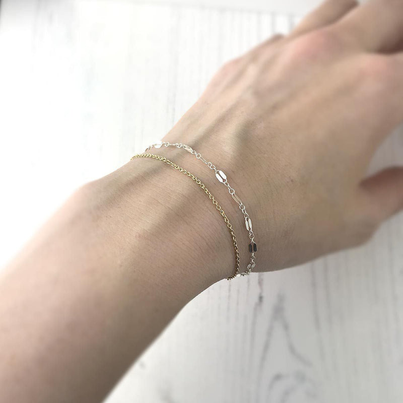 Lacey Bracelet - Silver, Gold - Handmade Jewelry by Burnish