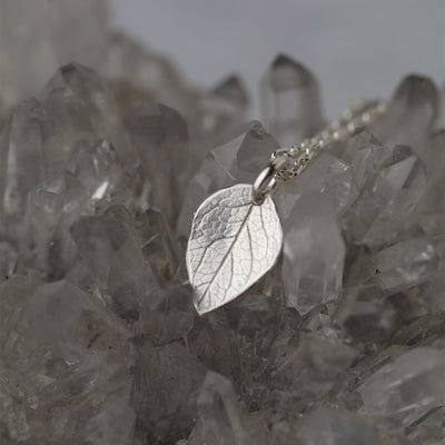 Leaf Flutter Necklace - Handmade Jewelry by Burnish