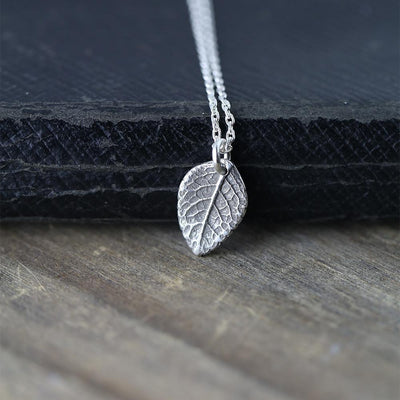 Leaf Necklace - Handmade Jewelry by Burnish