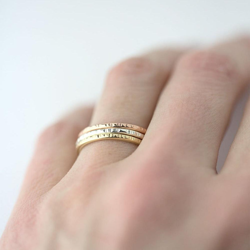 Medium Bark Ring - 14K Gold - Handmade Jewelry by Burnish
