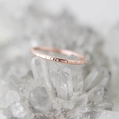 Medium Bark Ring - 14K Rose Gold - Handmade Jewelry by Burnish