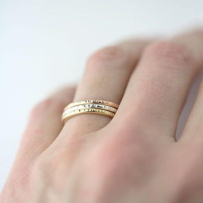 Medium Bark Ring - 14K Rose Gold