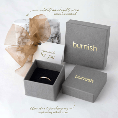 Medium Bark Ring - Gold Filled - Handmade Jewelry by Burnish