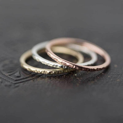 Medium Bark Ring - Rose Gold Filled - Handmade Jewelry by Burnish