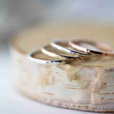 Medium Hammered Ring - Handmade Jewelry by Burnish