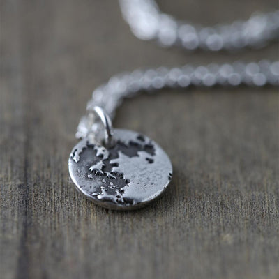 Mini Moon Necklace - Handmade Jewelry by Burnish