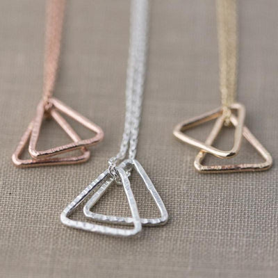 Minimalist Triangle Necklace - Handmade Jewelry by Burnish