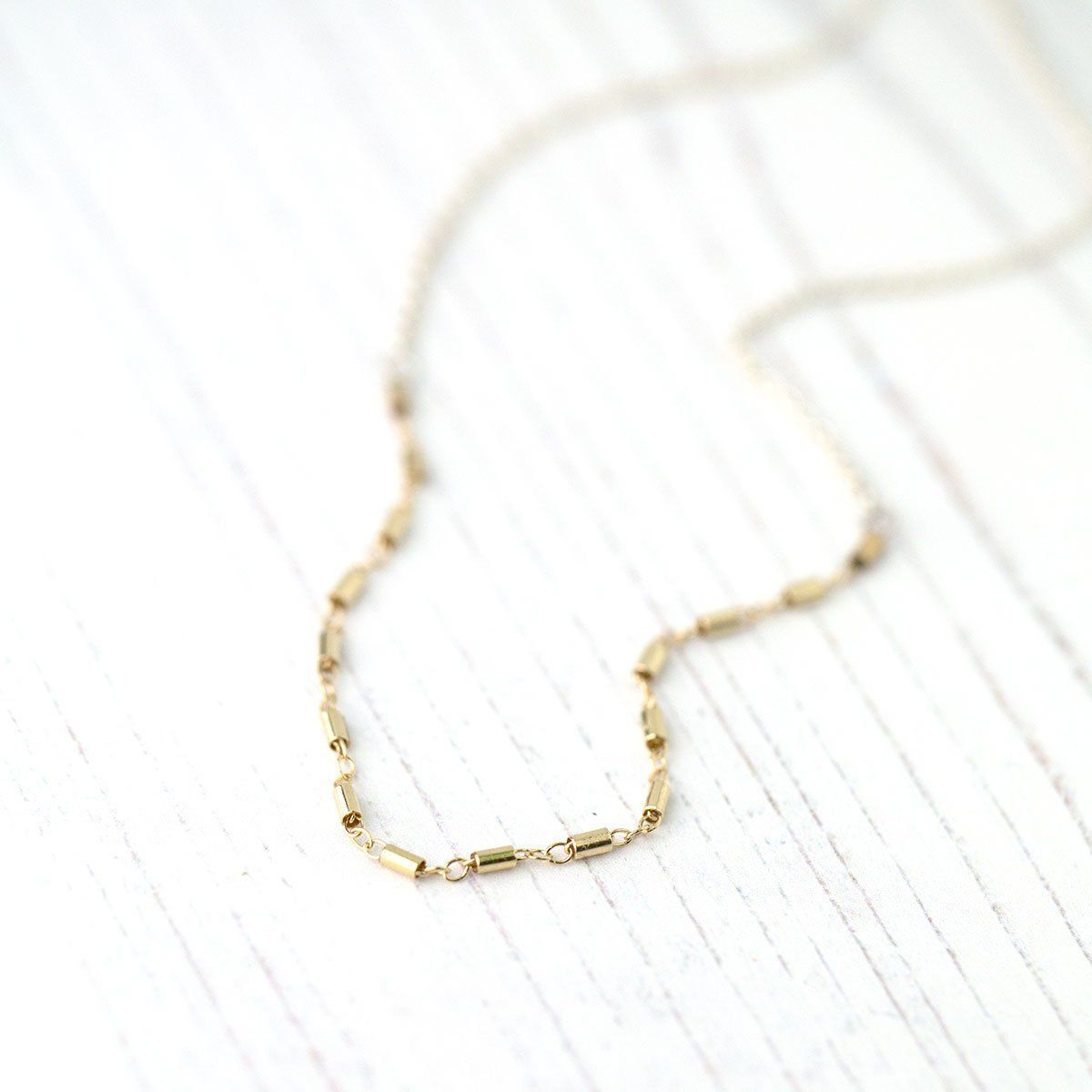 Mixed Metals Gold & Silver Necklace - Handmade Jewelry by Burnish