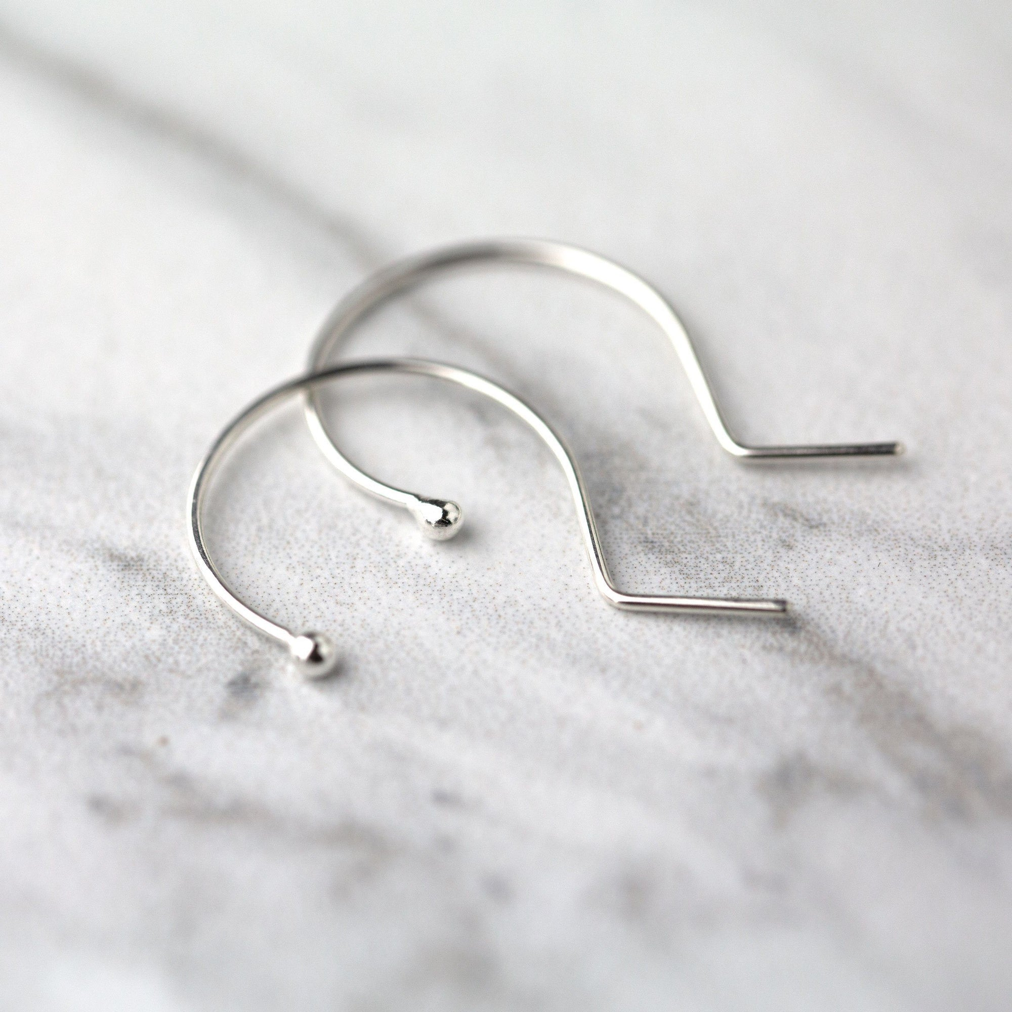 Modern Wire Drop Earrings - Handmade Jewelry by Burnish