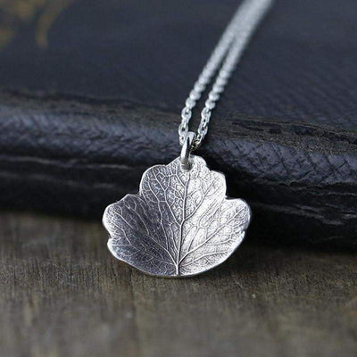 ONLY 1 - Leaf Necklace - Handmade Jewelry by Burnish