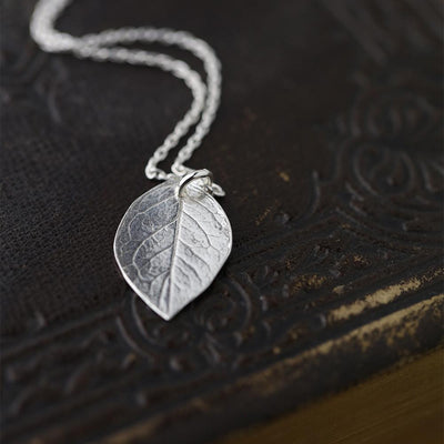 ONLY 1 - Leaf Pendant Necklace - Handmade Jewelry by Burnish