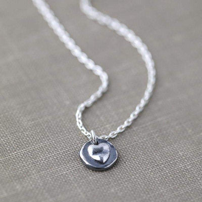 ONLY 1 - Mini Heart Necklace - Handmade Jewelry by Burnish