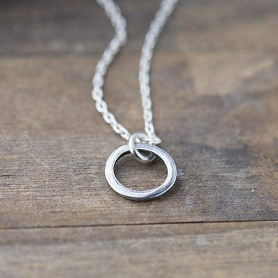 ONLY 1 - Simple Circle Necklace - Handmade Jewelry by Burnish