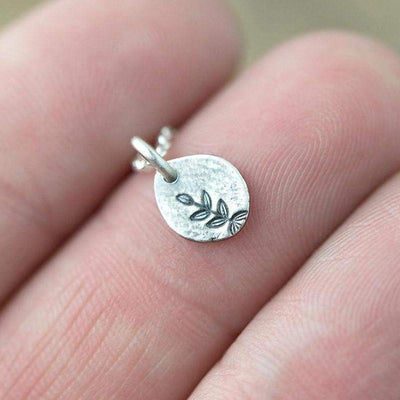 ONLY 1 - Tiny Plant Necklace - Handmade Jewelry by Burnish