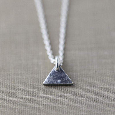 ONLY 1 - Tiny Triangle Necklace - Handmade Jewelry by Burnish