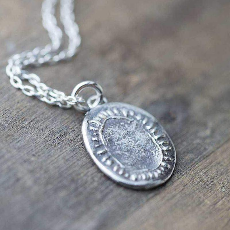 Organic Medallion Necklace - Handmade Jewelry by Burnish