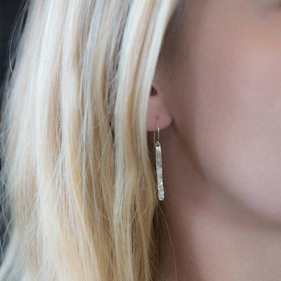 Ripple Bar Earrings - Handmade Jewelry by Burnish