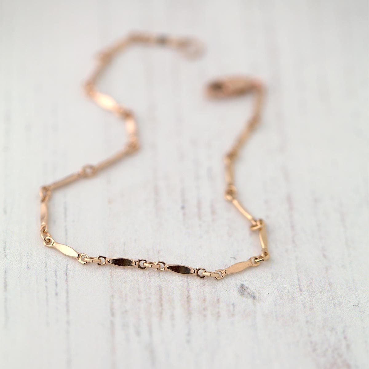 Rose Gold Bracelet - Handmade Jewelry by Burnish