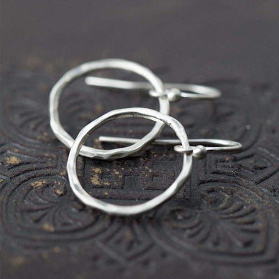 Satin Circle Earrings - Handmade Jewelry by Burnish