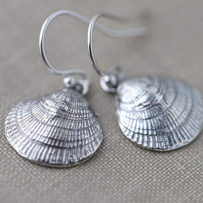 Sea Shell Earrings - Handmade Jewelry by Burnish