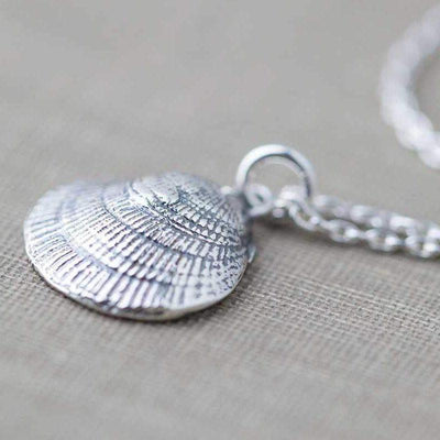 Sea Shell Necklace - Handmade Jewelry by Burnish