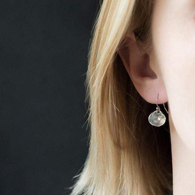 Simple Shell Earrings - Handmade Jewelry by Burnish