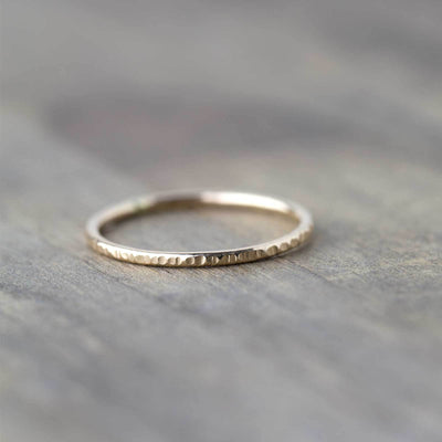 Slim Bark Ring - 14K Gold - Handmade Jewelry by Burnish
