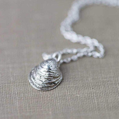 Small Sea Shell Necklace - Handmade Jewelry by Burnish