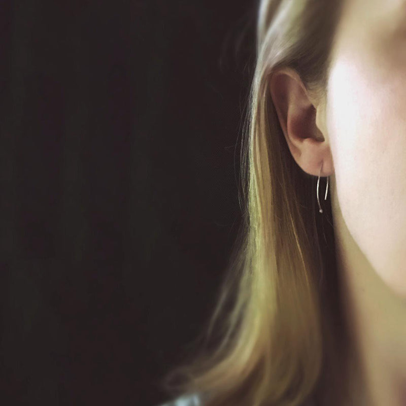Sterling Droplet Earrings - Handmade Jewelry by Burnish