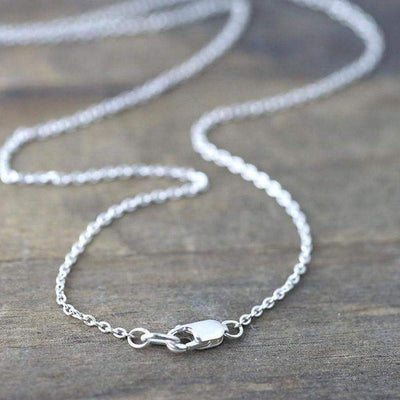 Sterling Silver Cable Chain Necklace - Handmade Jewelry by Burnish