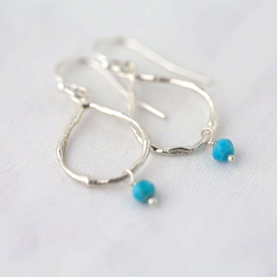 Teardrop Birthstone Earrings - Handmade Jewelry by Burnish