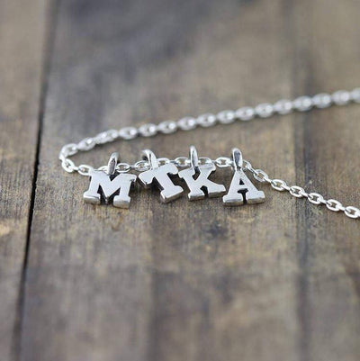 Tiniest Initial Necklace - Handmade Jewelry by Burnish