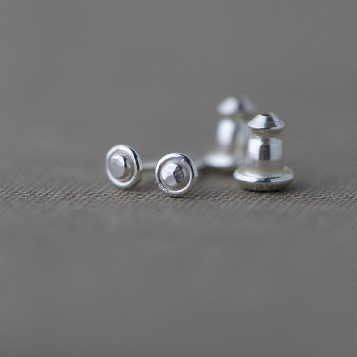 Tiny Dot Post Earrings - Handmade Jewelry by Burnish