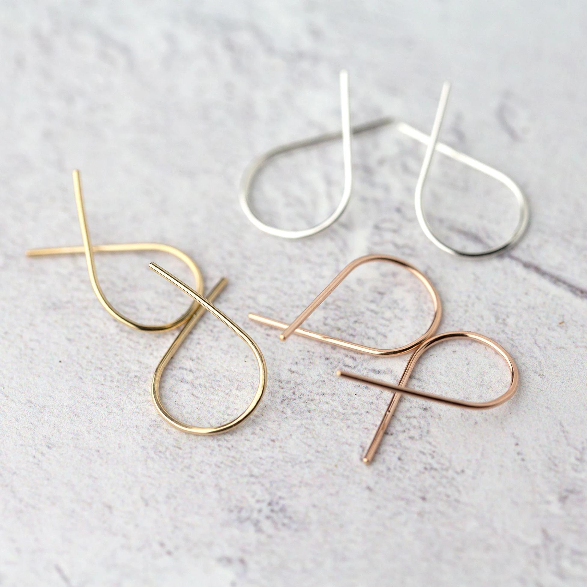 Twist Earrings - Handmade Jewelry by Burnish