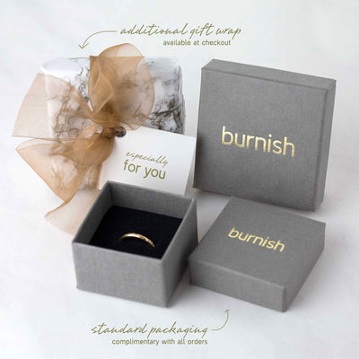 Medium Bark Ring - 14K Gold