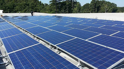 Solar Panels on our Roof at our Facility