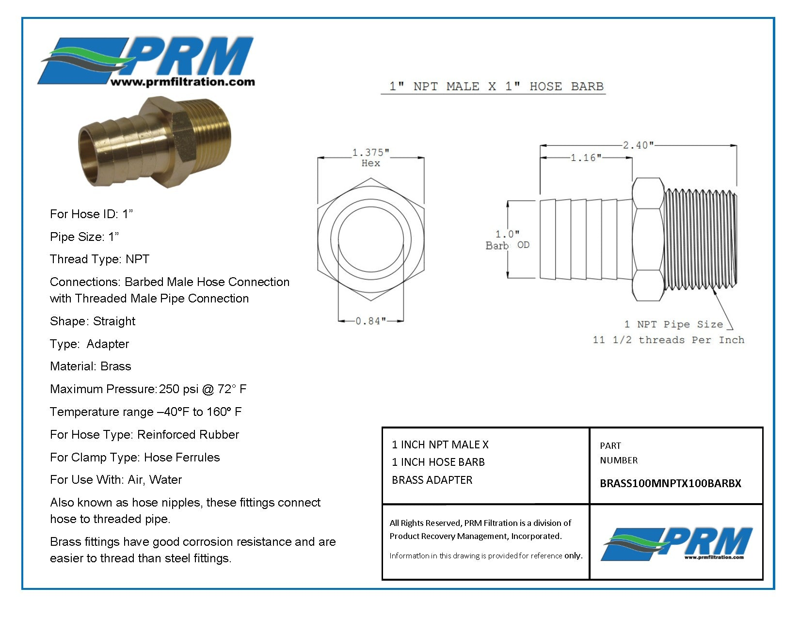 """Details about  /2Pcs 1//2/"""" Hose Barb to 1//4/""""Male NPT Stainless Steel Hose Barb Fitting Water Fuel"""