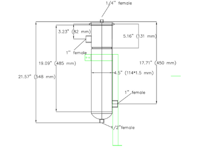 Example #4 Size Bag Filter Housing Dimensional Drawing