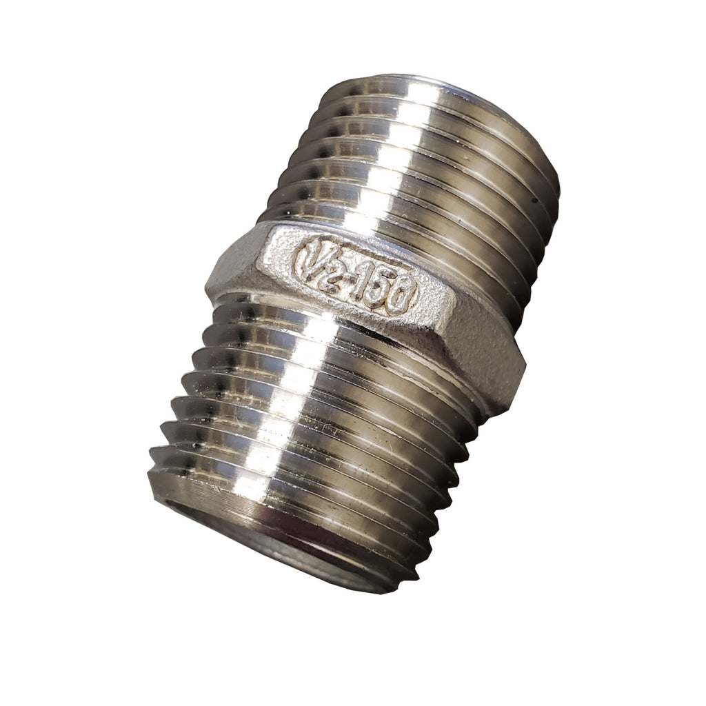 1/2 Inch 304 Stainless Steel Hex Nipple