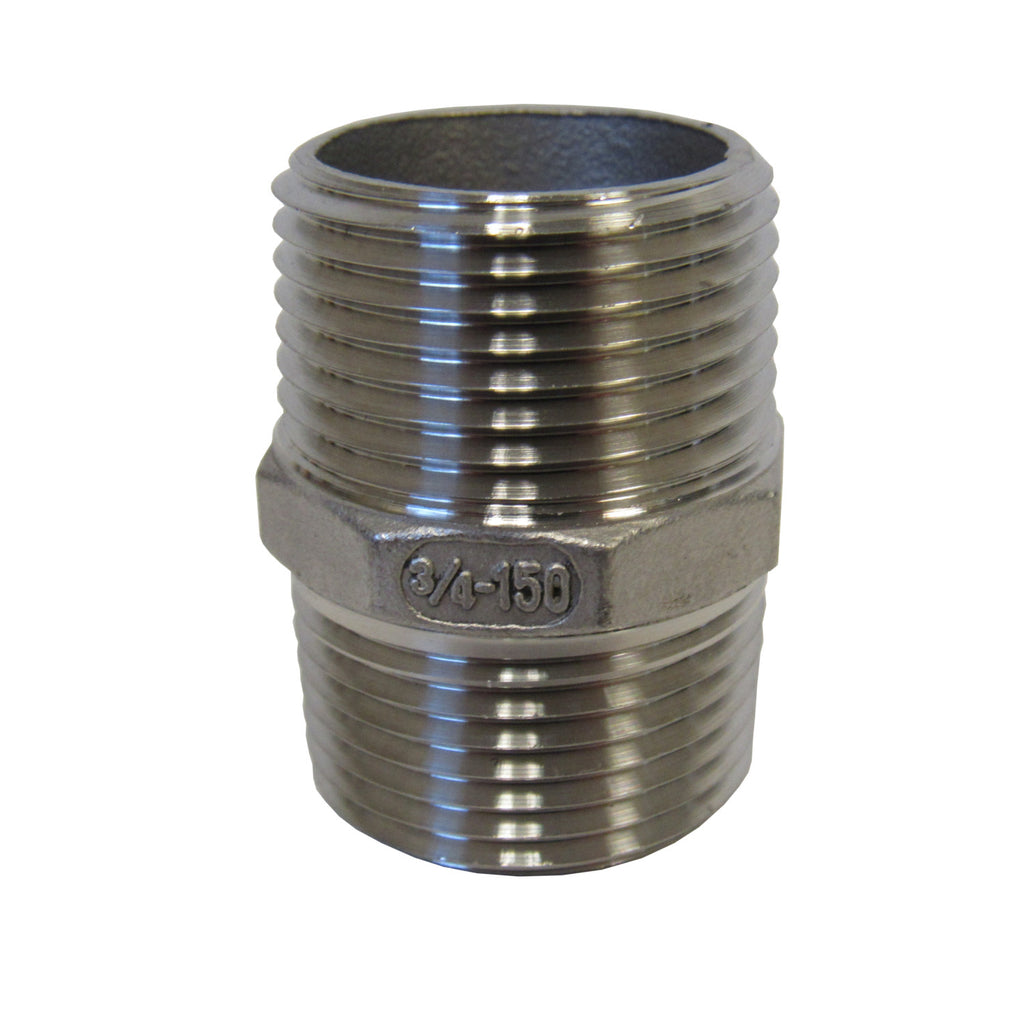 3/4 Inch 304 Stainless Steel Hex Nipple