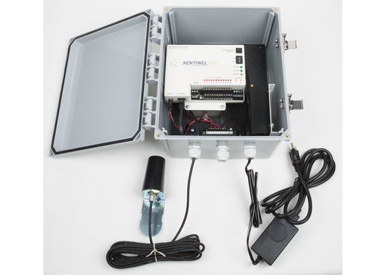Everything that's included with the Sensaphone Sentinel PRO Monitoring System (Cellular Version)
