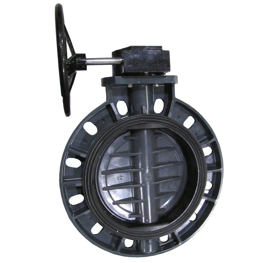 ERA Sch 80 PVC 12 Inch Butterfly Valve, Gear Operated