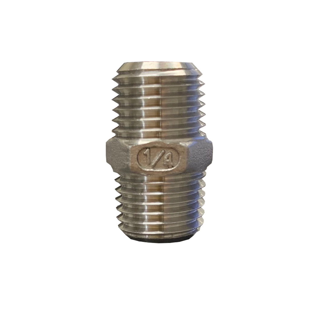 STAINLESS STEEL HEX NIPPLES, 304 SS, CLASS 150 - 1/4 INCH