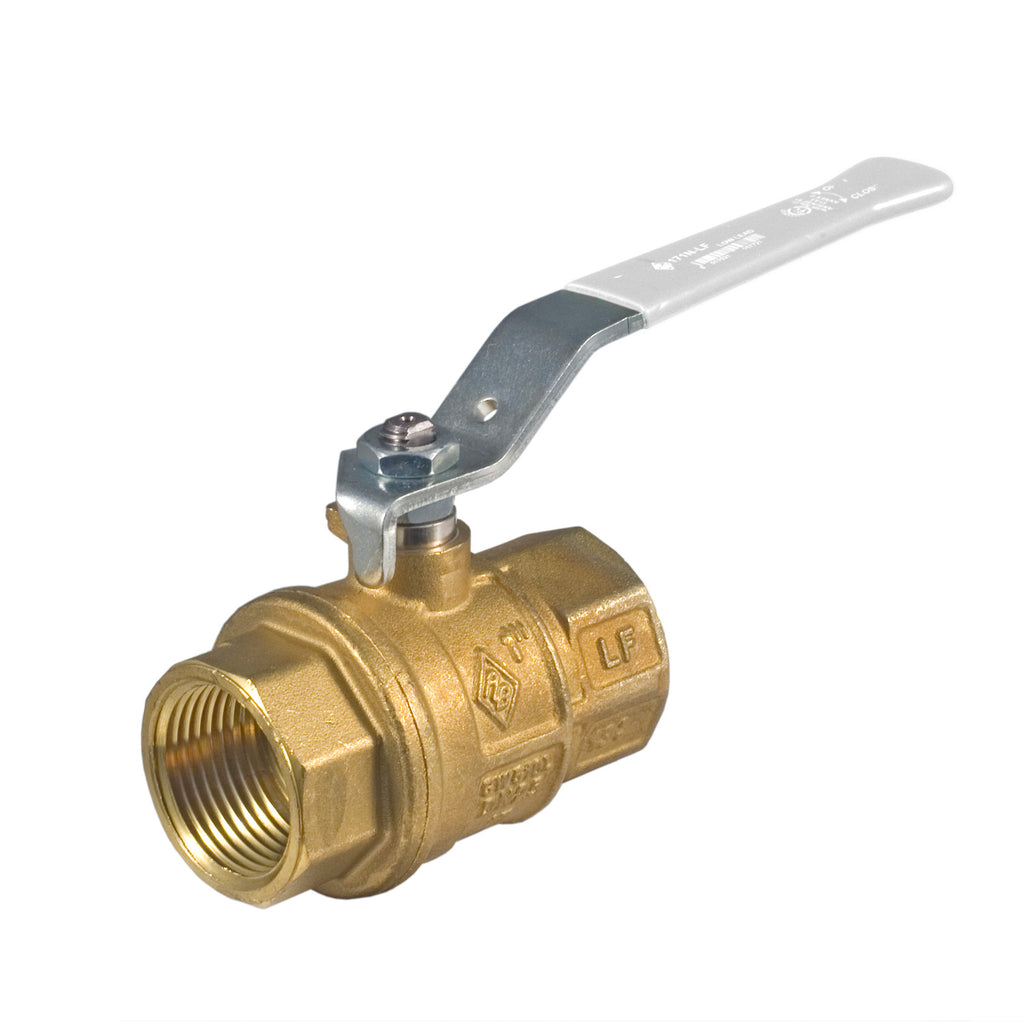 Bonomi 161NLF NPT Lead Free Brass Full Port Ball Valve - 1-1/4 Inch, Pack of 10