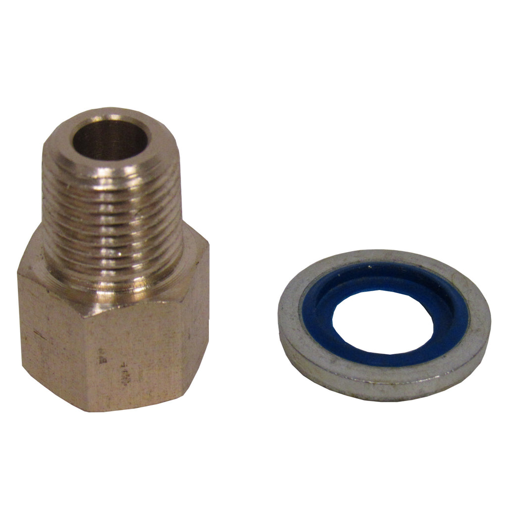 Brass Adapter - 1/8 Inch NPT Female X 1/8 Inch BSPP Male with Sealing Washer