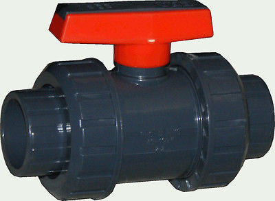 ERA Sch 80 PVC True Union Ball Valve, 3/4 Inch Socket Connect