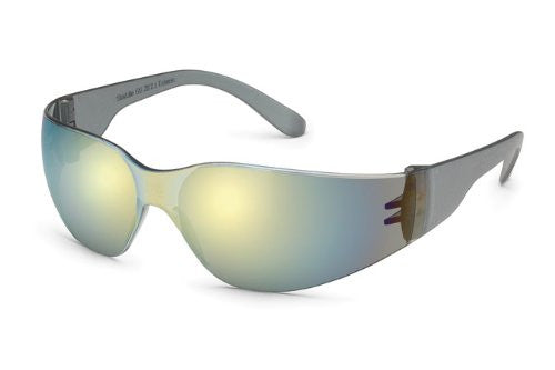 GATEWAY STARLITE SAFETY GLASSES, GOLD MIRROR LENS, GRAY TEMPLE, LIGHTWEIGHT, 467M