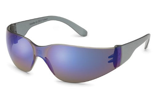 Gateway Safety Starlite 469M Safety Glasses, Blue Mirror Lens, Gray Temple, Lightweight