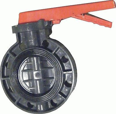 ERA Sch 80 PVC 8 Inch Butterfly Valve, Lever Handle